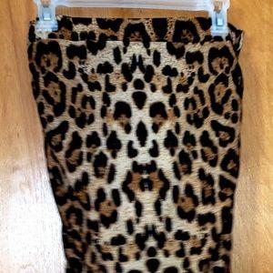 Ankle length, leopard print maxi skirt